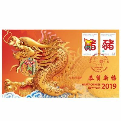 NEW Perth Mint Chinese New Year 2019 Stamp and Coin Cover