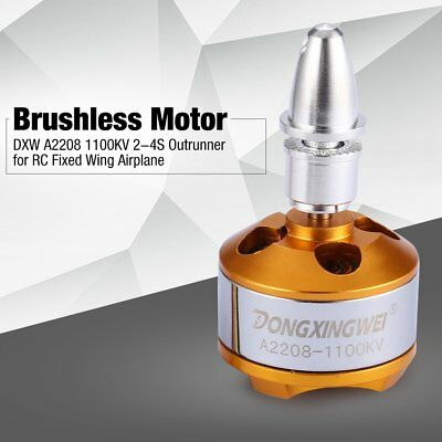 DXW A2208 1100KV 2-4S Outrunner Brushless Motor for RC Fixed Wing Airplane NV