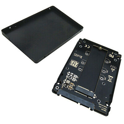 "M.2 NGFF B B+M Key SSD to SATA 2.5"" Drive Case Enclosure 2230 2242 2280 Adapter"