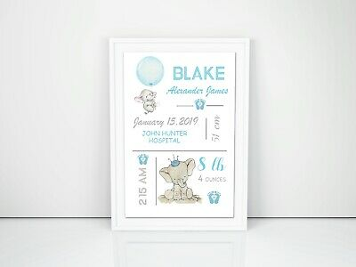 Personalised Baby Nursery Decor Wall Art, Print  A4 Printed or Digital File