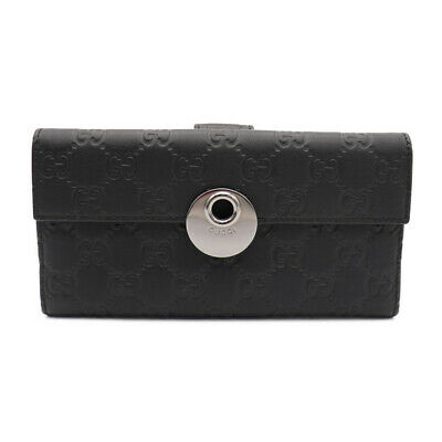 Gucci Double Sided purse 231835 Guccisima Leather GGpattern Black