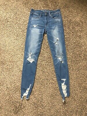 c261521c6f American eagle Outfitters High-rise Jegging Super Stretch Jeans Size 6 Long