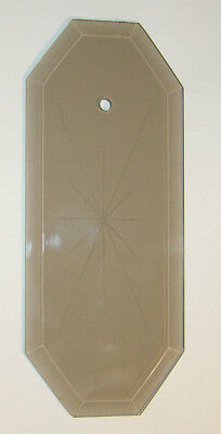 chandelier etched glass replacement ~ smoked amber octagon ~ beveled edge