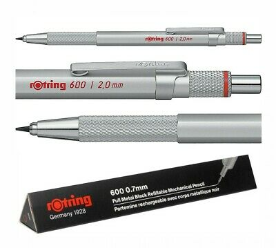 rotring 600 Mechanical Pencil Silver 0.35mm / 0.5mm / 0.7mm / 2.0mm Japan Import