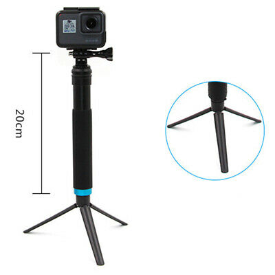 For Gopro 7 6 Accessories Selfie Stick+ Mount Adapter+Monopod Tripod+Phone Clip