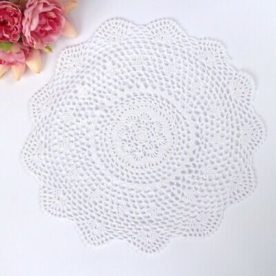 Crochet doily in White 40 - 42cm for millinery , hair and crafts
