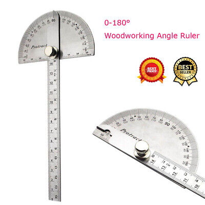 Adjustable Protractor 0-180 Degrees Angle Finder Arm Measuring Ruler Tool
