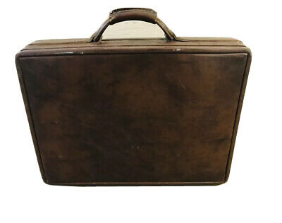 "Hartmann Luggage Belting Leather Briefcase Attache President Diplomat 18"" No Key"