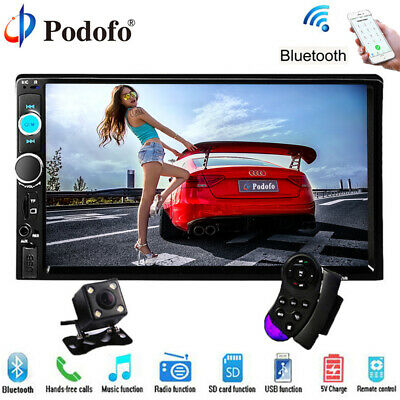 "Caméra + Double 2 Din 7"" HD Autoradio Écran tactile Player MP5 SD/FM/USB/AUX/BT"