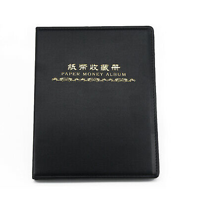 Coin Coin Collection Album Soft Leather Notes Banknote Paper Money Stamps Book