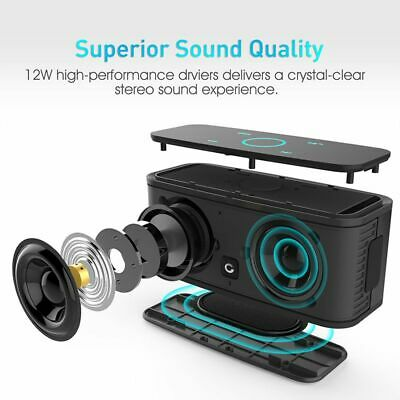 Touch Control Bluetooth Speaker Portable Wireless Speakers Sound Box With Bass
