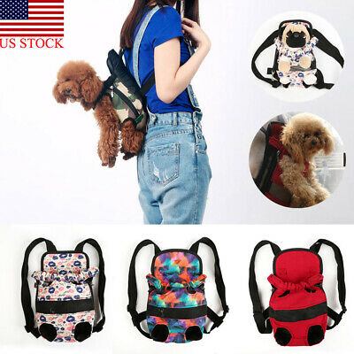 Pet Dog Backpack Carrier Puppy Pouch Cat Front Bag Back Pack With Legs Out Hot