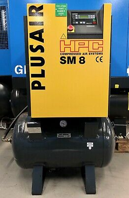HPC / Kaeser SM8 Receiver Mounted Rotary Screw Compressor! 5.5Kw, Very Low Hours