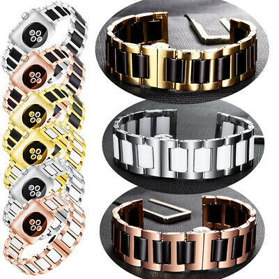 Luxury Ceramic Band Strap Stainless Steel Bracelet For Apple Watch Series 4321