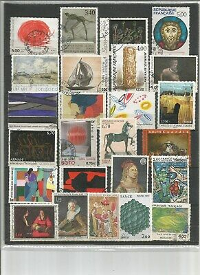 France - Le Musee Imaginaire: Lot De 50 Timbres Differents