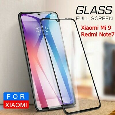 For Xiaomi Mi 9 / Redmi Note 7 Full Screen Protector 9D Curved Tempered Glass