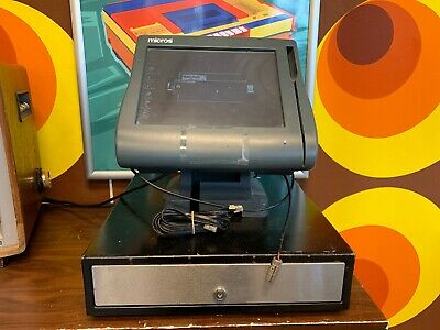 Micros 4LX Workstation Touchscreen + Stand & Cash Drawer
