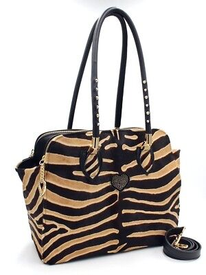 1ea0172cd9 Bruno Amaranti Borsa Cavallino Zebra E Pelle/ Bag Pony And Black Leather