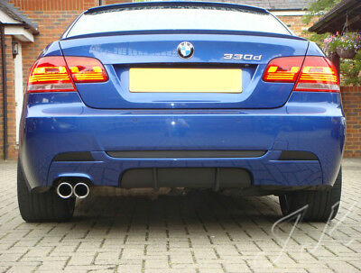 BMW 3 Series E92 E93 Msport Mpacket - Rear Bumper Lip Diffuser Spoiler Add On