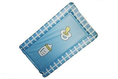 Baby changing mat Blue bottle design Nursery newborn childcare nappy cleaning