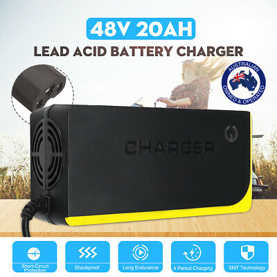 48V 20AH Lead Acid Battery Charger For Electric Bicycle Bike Motorcycle Scooters