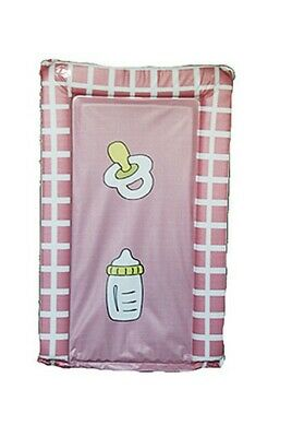 Baby changing mat Pink bottle design Nursery newborn childcare nappy cleaning