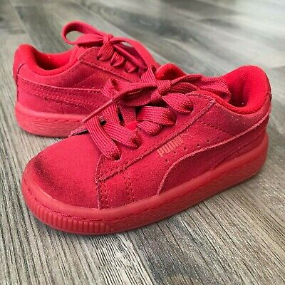 PUMA BASKET PATENT Iced Glitter Hot Pink Toddler Baby Size Sneakers 362467 01