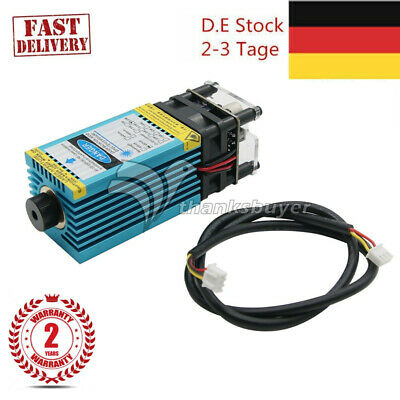 5.5W 450nm Blue Laser Module+Cutting TTL Module 5500mw Stainless Steel Wood DEEU