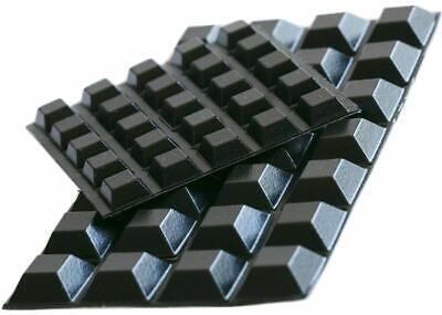 Black Rubber Feet (53 Pack) Self Stick Bumper Pads - Made in USA - Adhesive