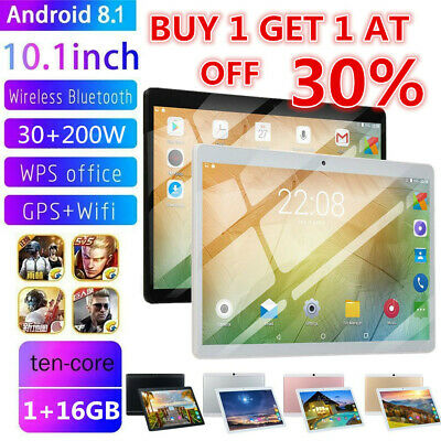 "10.1"" inch 1GB+16GB Tablet PC Computer Laptop Android 8.1 MTK6797 Ten Core US"