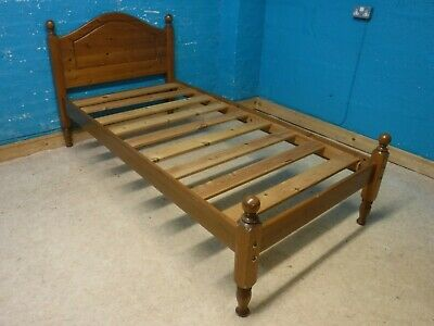SOLID WOOD 3FT SINGLE BED FRAME more items listed - VISIT OUR WAREHOUSE