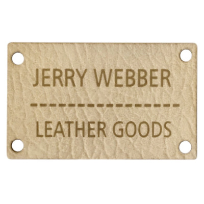 Custom leather Personalised Oblong Faux Leather labels Medium Size 40mm x 30mm