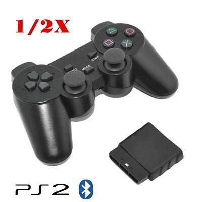 For PS2 2.4GHz Wireless Bluetooth Game Controller Dual Shock Gamepad Joypad 1/2X