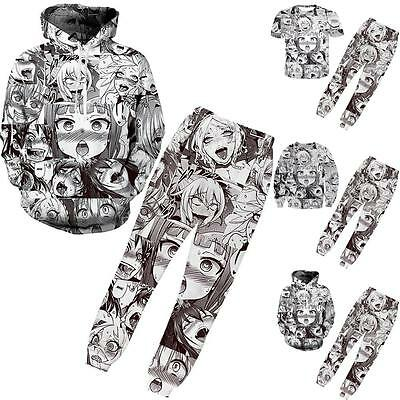 3D Pull-Over Hentai Manga Imprimé Sweat Capuche Pantalon T-Shirt Survêtement