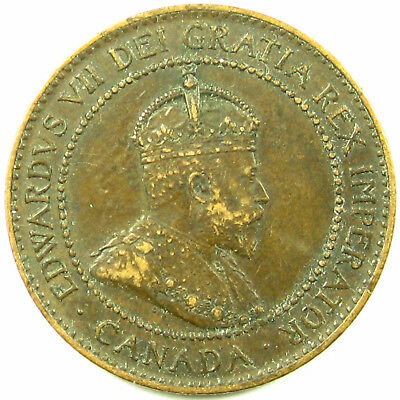 1902  Canada  Cent  Km# 8  A Brown Nearly Uncirculated Coin
