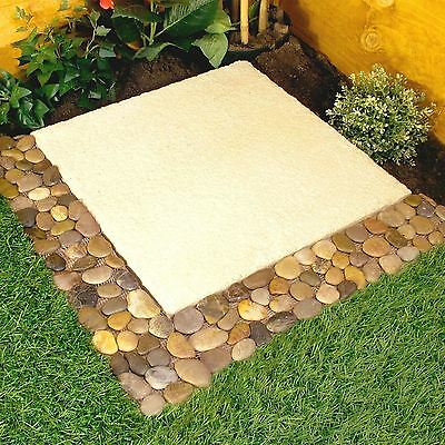 Parkland Pack of 4 Pebble Border Stone Garden Plant Lawn Edging Strips Wall Tile