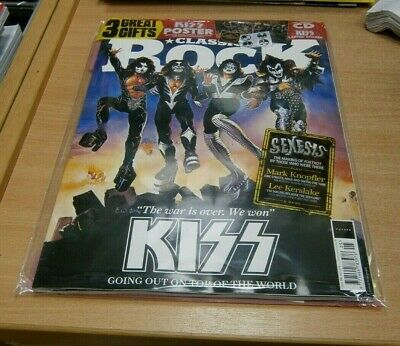 Classic Rock magazine #261 MAY 2019 Kiss, Genesis + CD, Poster & Laptop Stickers