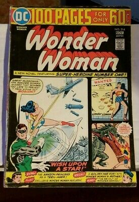 DC Comics WONDER WOMAN  #214  NOVEMBER 1974 100 PAGES