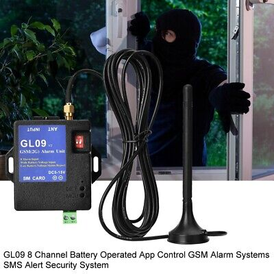 GSM SMS Module GL09 8 CH Alarm Box Alert Wireless Alarm Call For Home Security