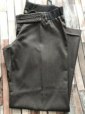 Mum 2Be Mothercare Maternity Trousers Grey Tailored Wide Leg Size 12 Underbump