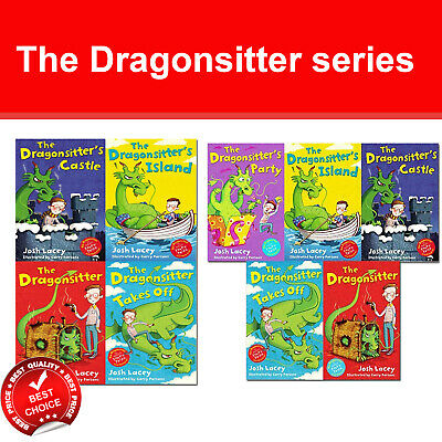 Josh Lacey The Dragonsitter series 1-8 books collection set Children's pack NEW
