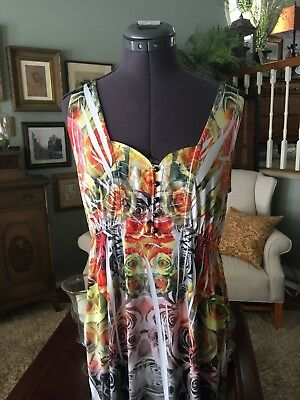 One World Live And Let Live  Long Maxi Dress Size M Excellent
