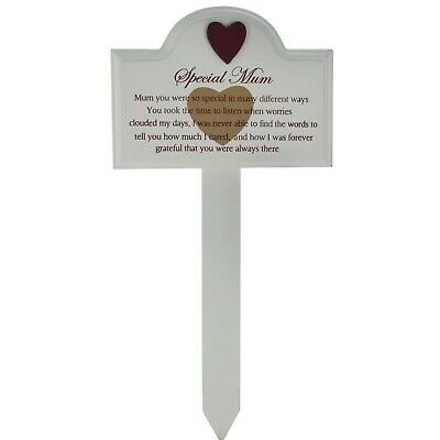 Mum Memorial Stick Graveside Decoration Tribute Condolence Plaque Marker F1319A