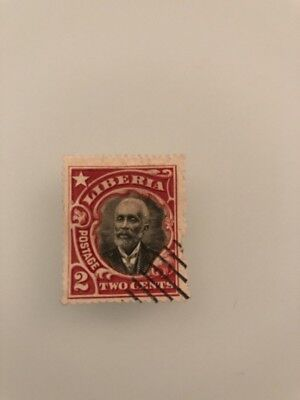 Liberia 1915-16 2 Cents Stamp Very Rare