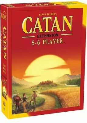 New Sealed Settlers of Catan Board Game 5th Edition 5-6 Players Extension Pack