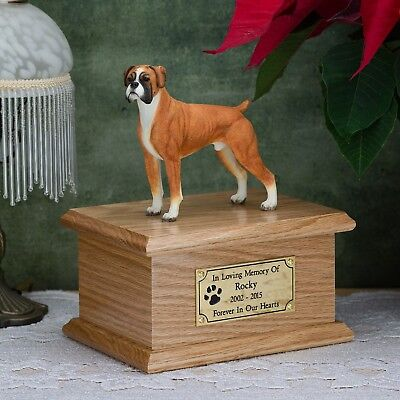Solid Wood Pet/Dog, Cremation Urn / Casket, Many Breeds to chose.