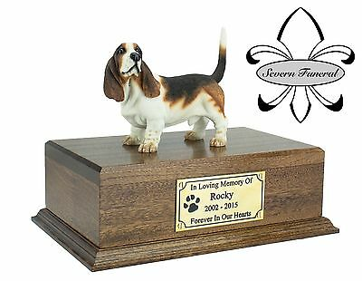 Solid Wood Pet/Dog, Luxury Cremation Urn / Casket Medium, Many Breeds to chose.