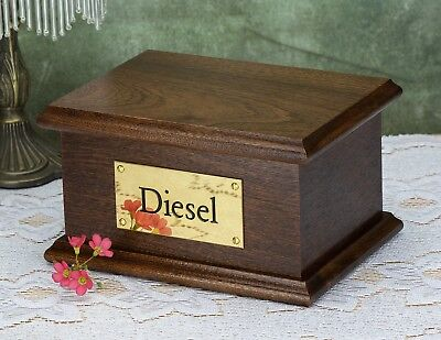 Solid Wood Mahogany Pet / Cat / Dog, Cremation Urn / Casket