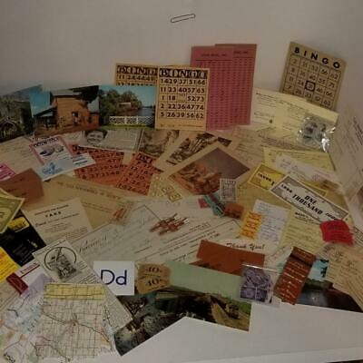 Lot 200 Plus Vintage Book Pages Collages Arts Crafts Ephemera Maps #125 Wide Varieties Crafts