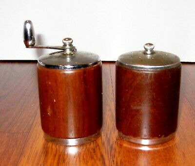 The George S. Thompson Corp. Wooden Salt Shaker & Pepper Mill Usa